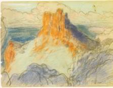 S. Rusiñol. Paisaje de Mallorca. Boceto (cortesía de I. Coll)