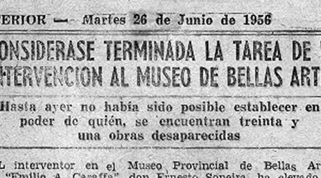 La intervención al museo en la prensa (1956)