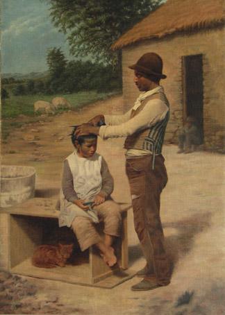 PIÑERO, A. Escena de campo, s/f, óleo sobre tela, 134 x 95,5 cm (Col. MEC)