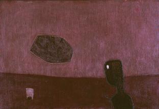REYNA, M. El trueno. 1962, óleo sobre hardboard, 51 x 75,8 cm