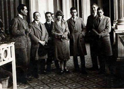 De izquierda a derecha: Alberto Nicasio, Gaspar de Miguel, Antonio Pedone ,Rosa Farsac, Gómez Centurión, José Malanca , Edelmiro Lescano Ceballos.