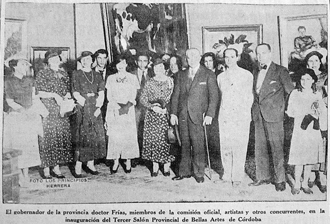 Inauguración del Tercer Salón de Bellas Artes, Los Principios 16 de noviembre de 1935